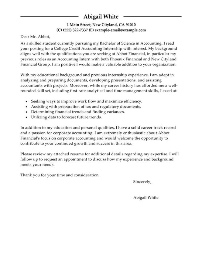 Exle Elegant Cl Writing Internship Cover Letter 11 Infographic