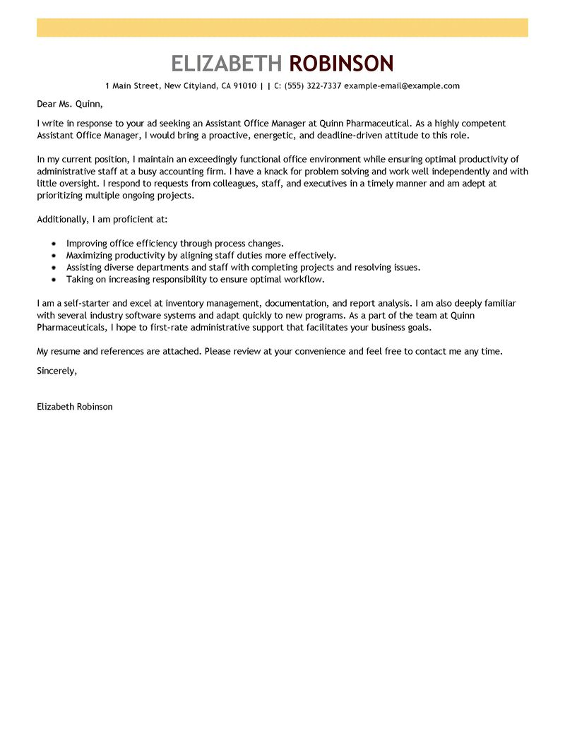Restaurant Cover Letter Examples Image collections - Cover Letter ...