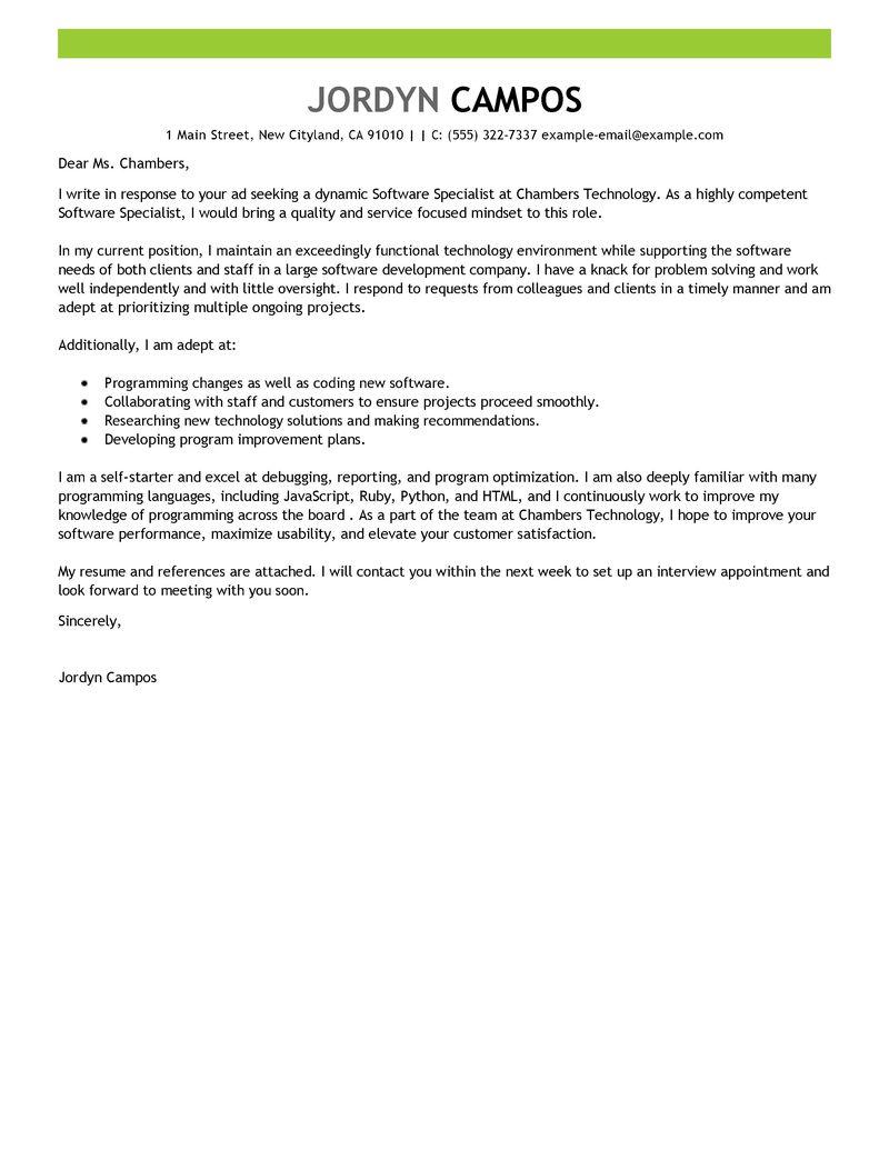 cover letter for java software developer