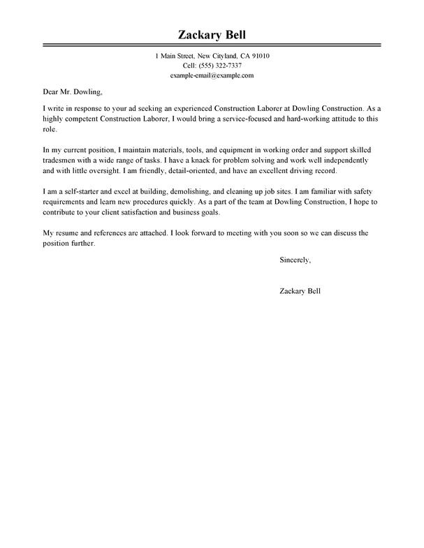 Cover Letter For Training Internship