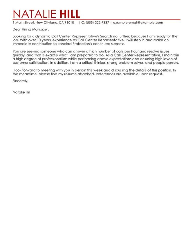 The Right Cover Letter For Your Customer Service Job Lication Will Help You Stand Out When Lying A