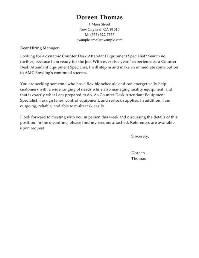Cover Letter Outline 15