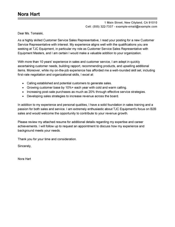 cover letter examples financial service representative