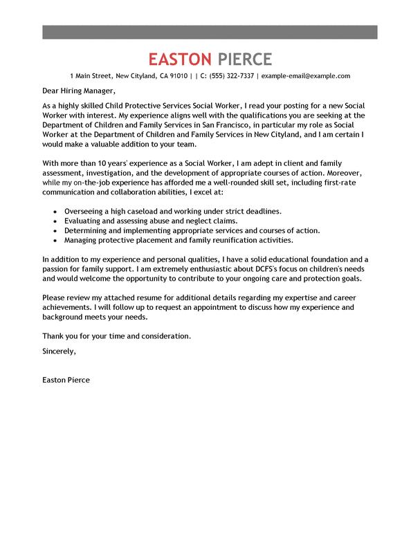 Social service internship cover letter – Social Work Intern Job Description