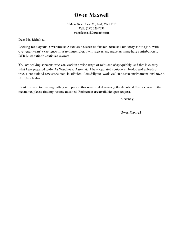 Housekeeping Cover Letter Exle