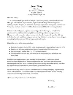 Director Of Operations Cover Letter Sle