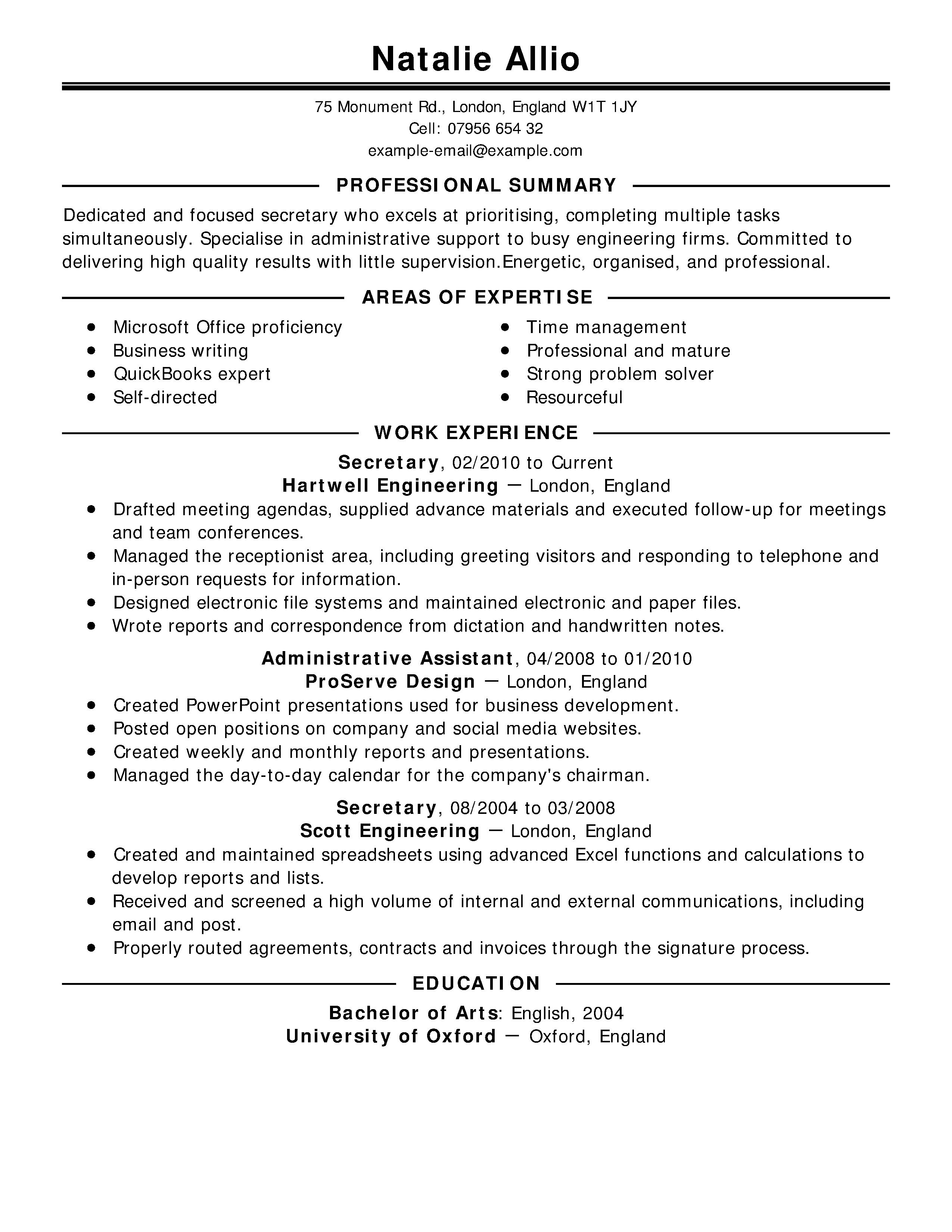 typing skill resume