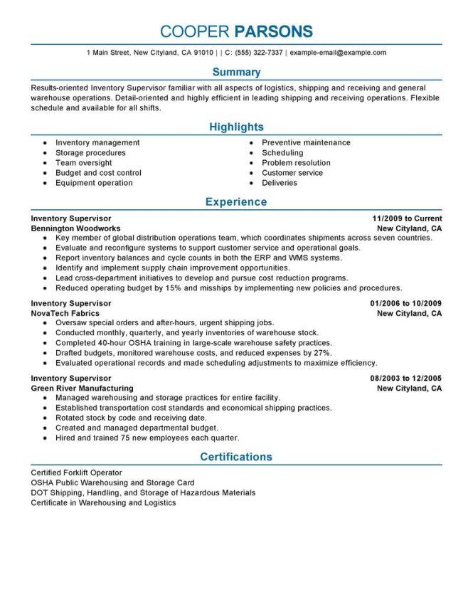 shipping supervisor resume resume sample