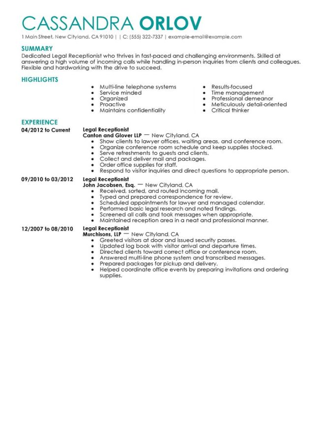 Exle Cover Letter Receptionist Medical Letters And Cv