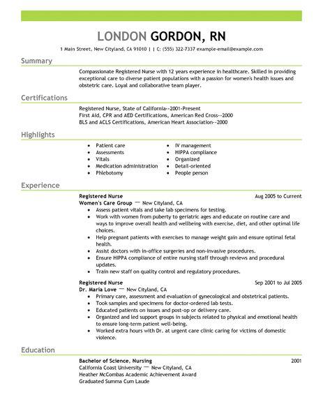 resume samples healthcare
