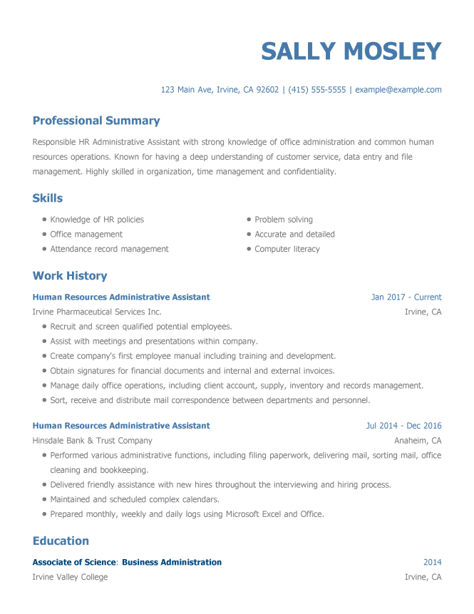 examples of well written resumes resume sample