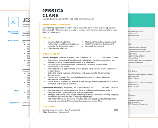 Free To Use Online Resume Builder By