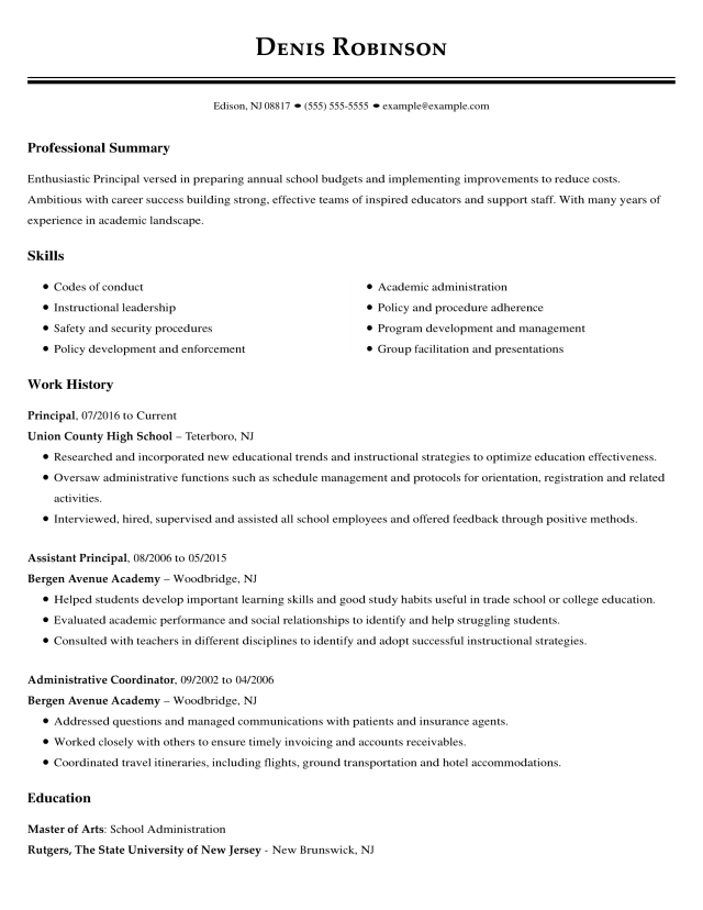 Education Resume Examples  LiveCareer