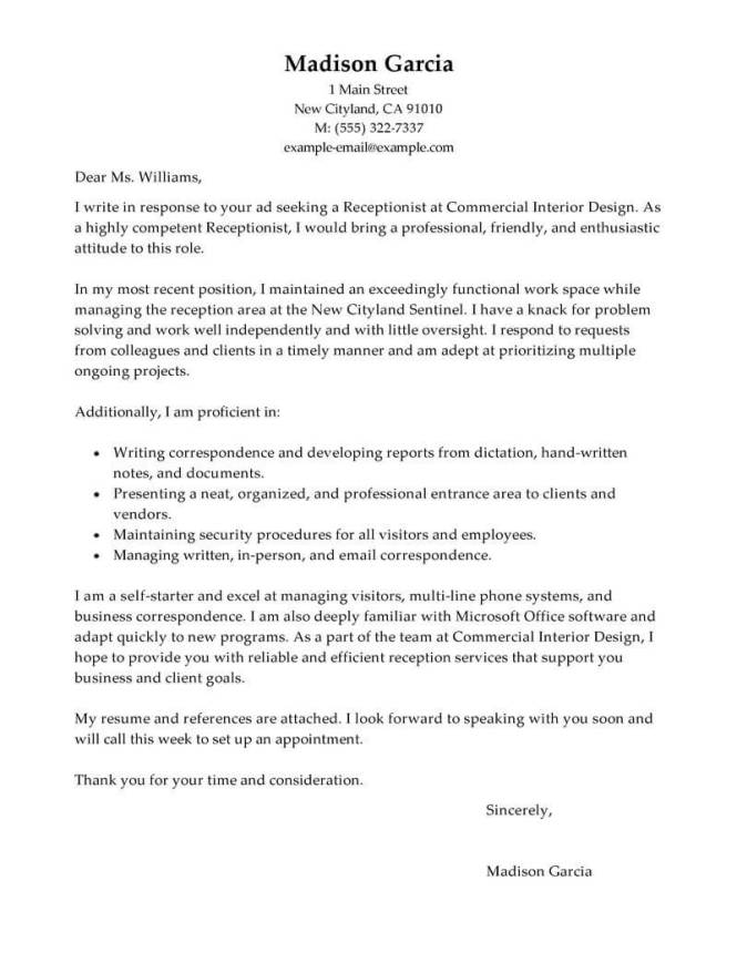 Gallery Of Exle A Cv Sle Receptionist Resume 28 Images