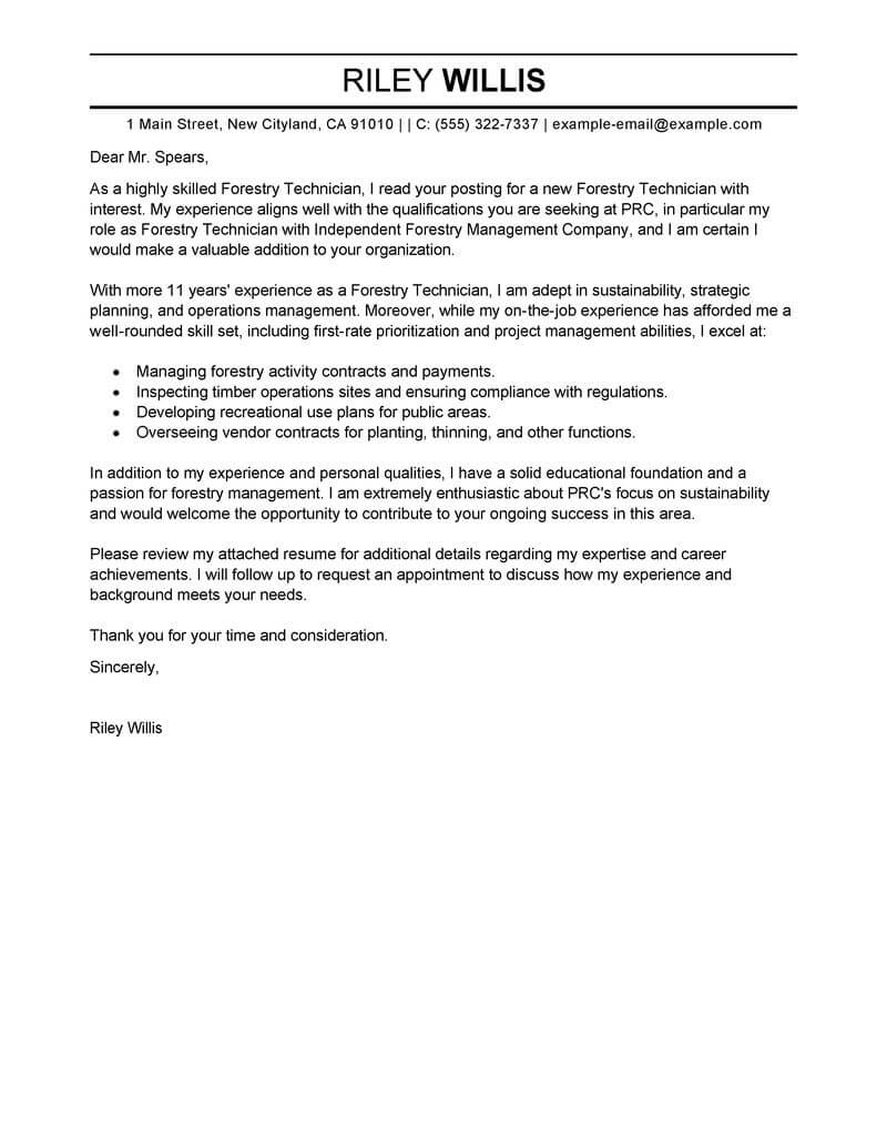 Cover Letter Tips For Agriculture And Environment