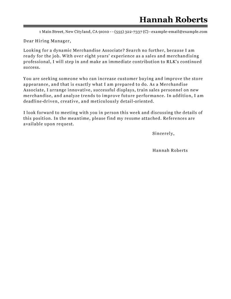 Merchandise Associate Job Seeking Tips. Best Merchandise Associate Cover  Letter ...