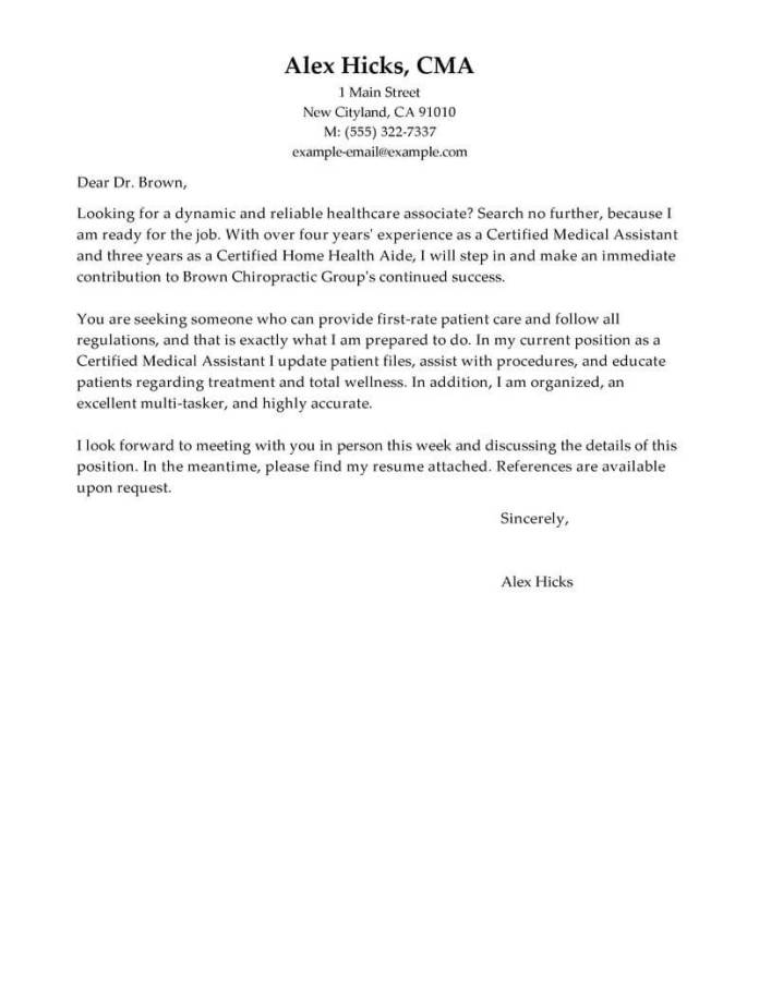 Best Healthcare Support Cover Letter Examples Livecareer