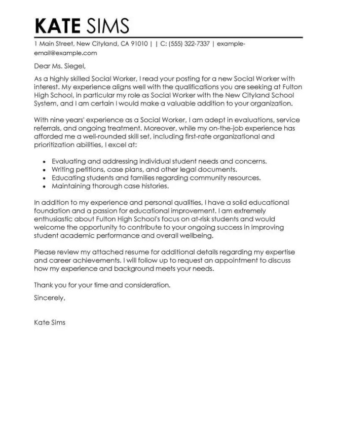 Cover Letter No Specific Job For Unadvertised Sle