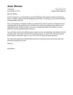 Ont Design Hospitality Cover Letter 15 Sles