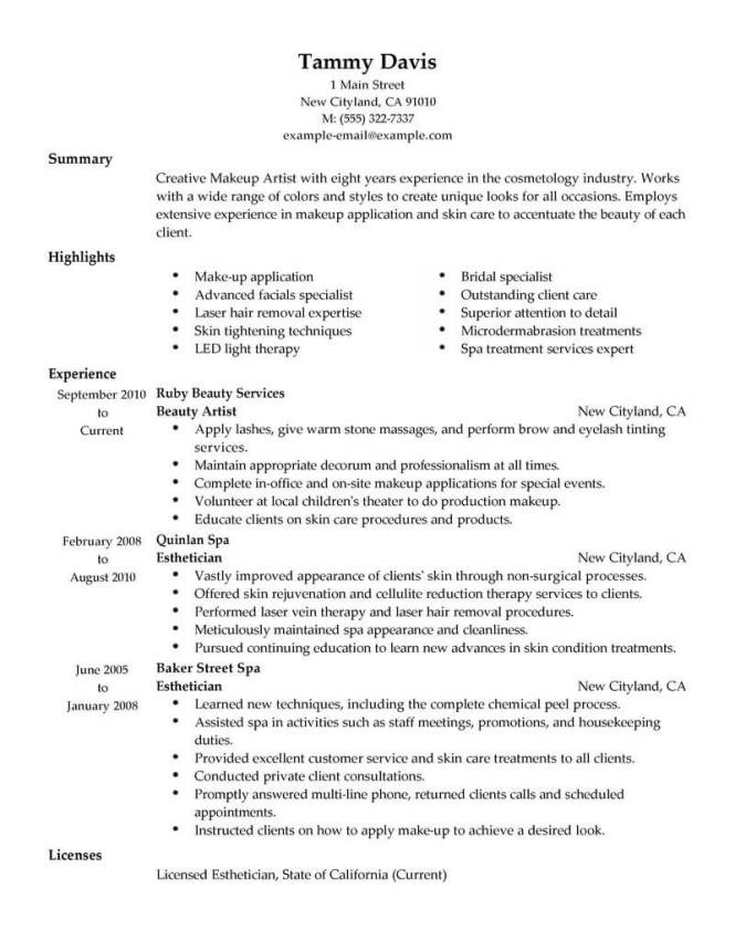how to make an artist resumes