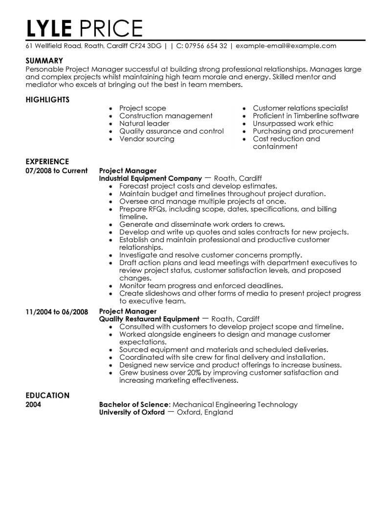 The summary can be the toughest section to write, so if you need a little extra guidance, head to our related business & management resume examples,. Cost Manager Resume Summary August 2021