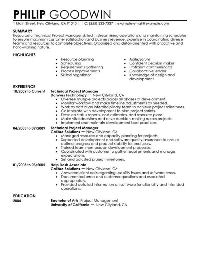 Computers Technology Resume Examples
