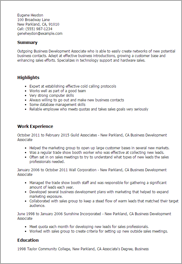 Business Resume Templates To Impress