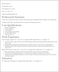 No Experience Resumes Examples