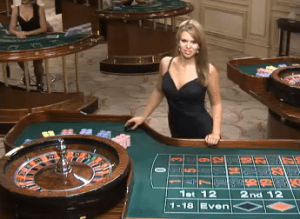 Playing Roulette with a live dealer