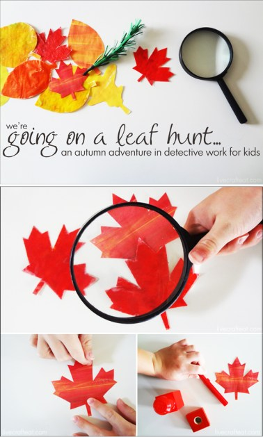 We're Going on a Leaf Hunt! :: an autumn adventure in detective work for kids.