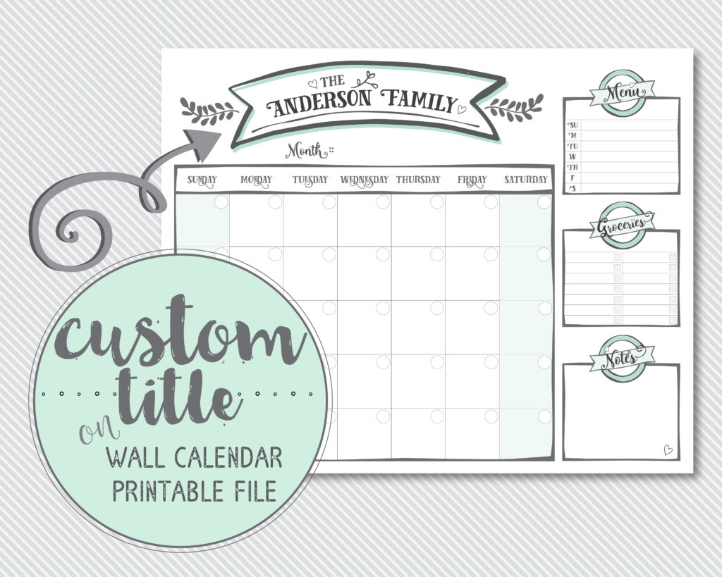 Free Printable A5 Monthly Calendars