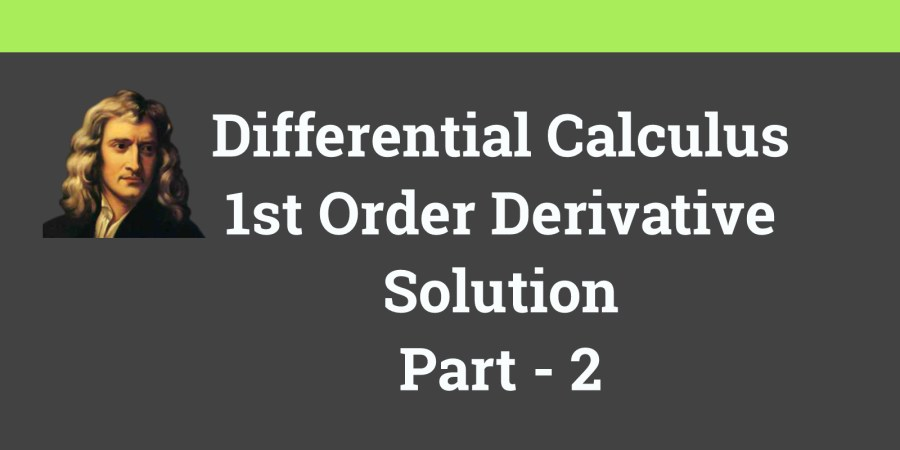 Derivative Solution Part2