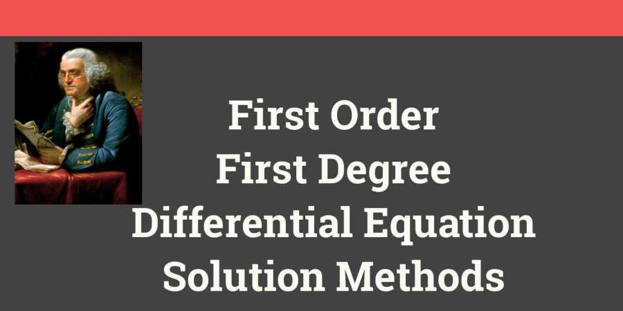 First Order First Degree Differential Equation