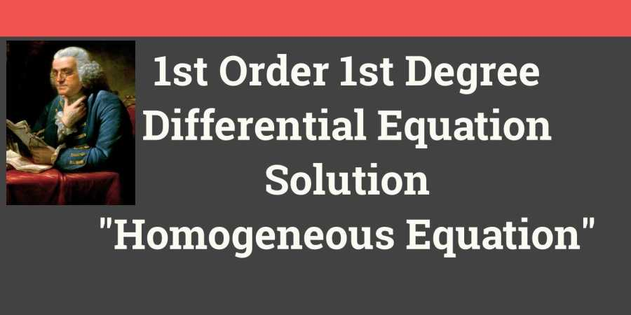 Homogeneous Differential Equation Project