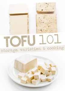 Photo of tofu on white background