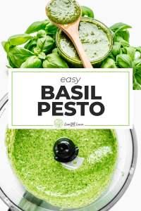 Pesto in a food processor
