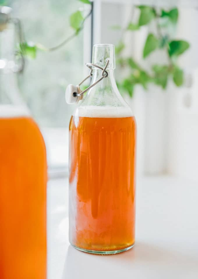 How to make homemade kombucha recipe flavored with kombucha flip top bottle
