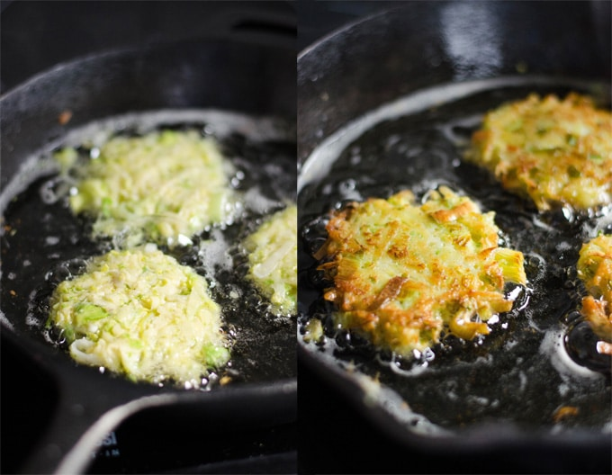 Brussels Sprout Latkes with Dijon Yogurt Sauce