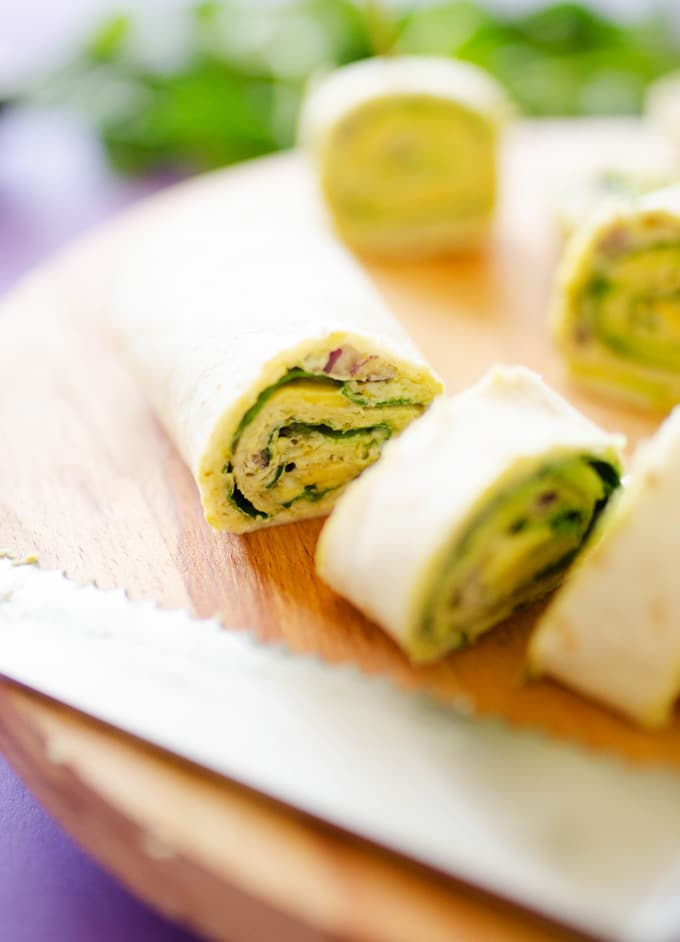 Avocado Pesto Pinwheels