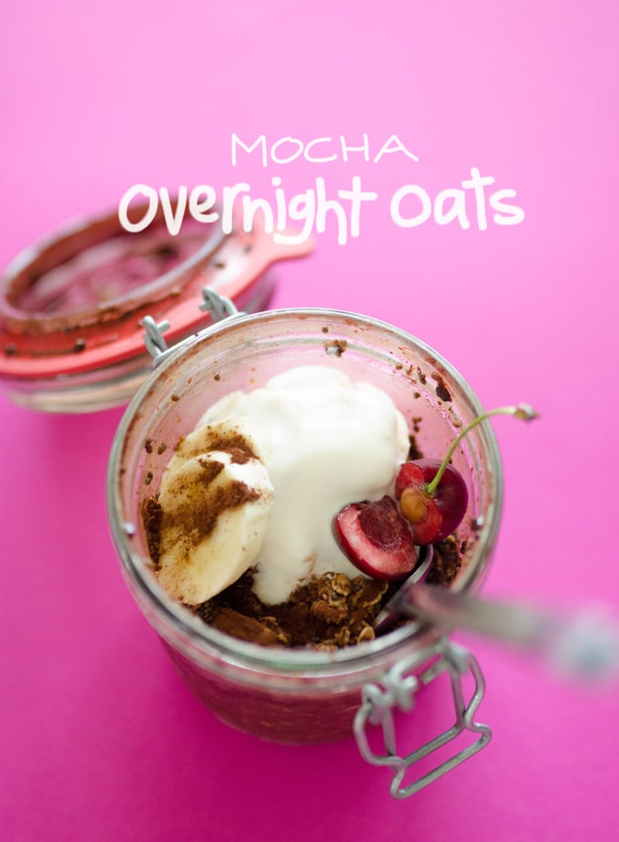 These Mocha Overnight Oats are like morning in a jar! With fruit, oats, and coffee, this is a breakfast that will get you energized in no time.