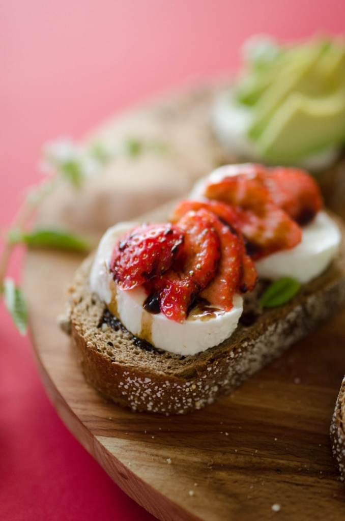 Strawberry Avocado Grilled Cheese