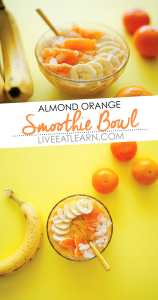 Almond Orange Smoothie Bowl