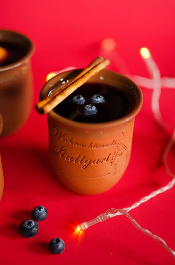 Blueberry Mulled Wine Glühwein Recipe