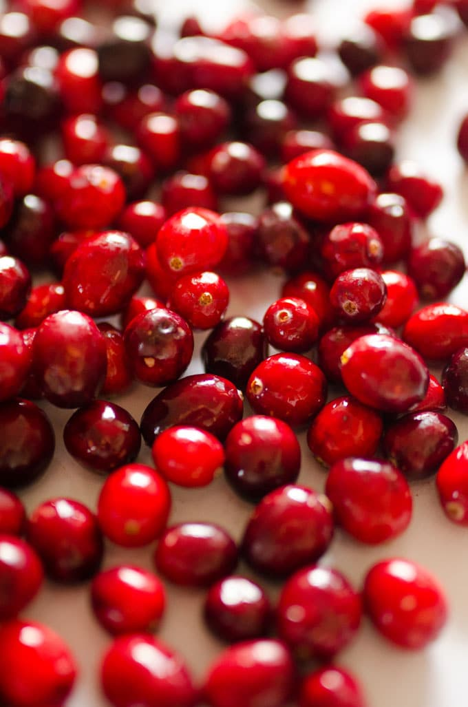 Close up photo of cranberries