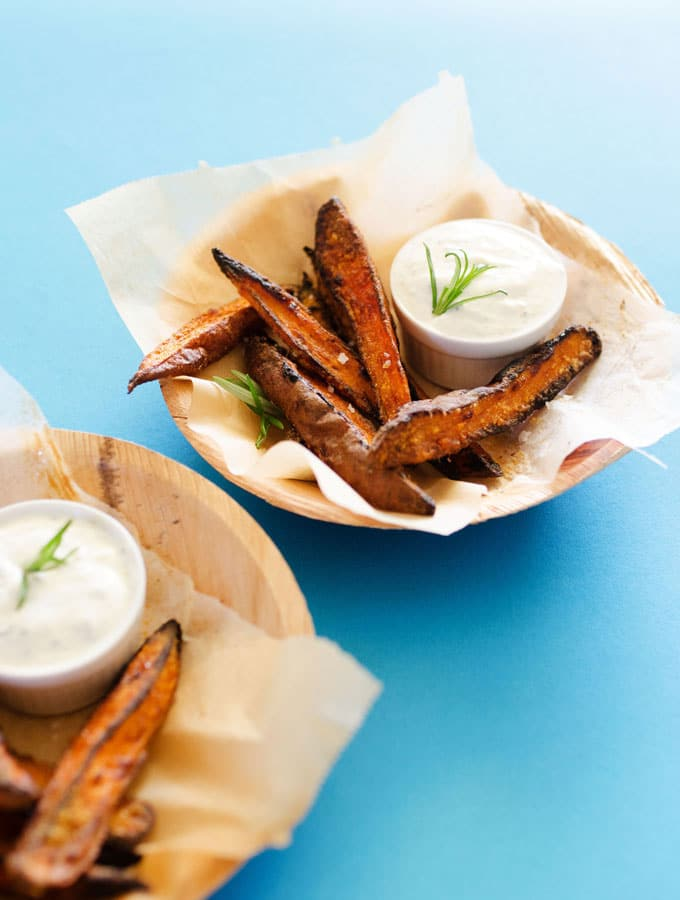 Oven-Baked Sweet Potato Wedges