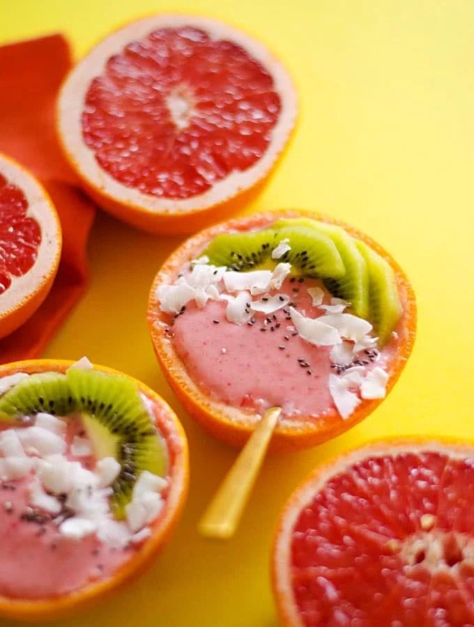 Strawberry Grapefruit Smoothie Bowl