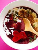 This Red Velvet Beet Smoothie Bowl makes the perfect Valentine's day breakfast, because not only is it made from the heart, but it's great for your heart! With cherries, chocolate, and beets, they're high in great taste and in heart-healthy nutrients.