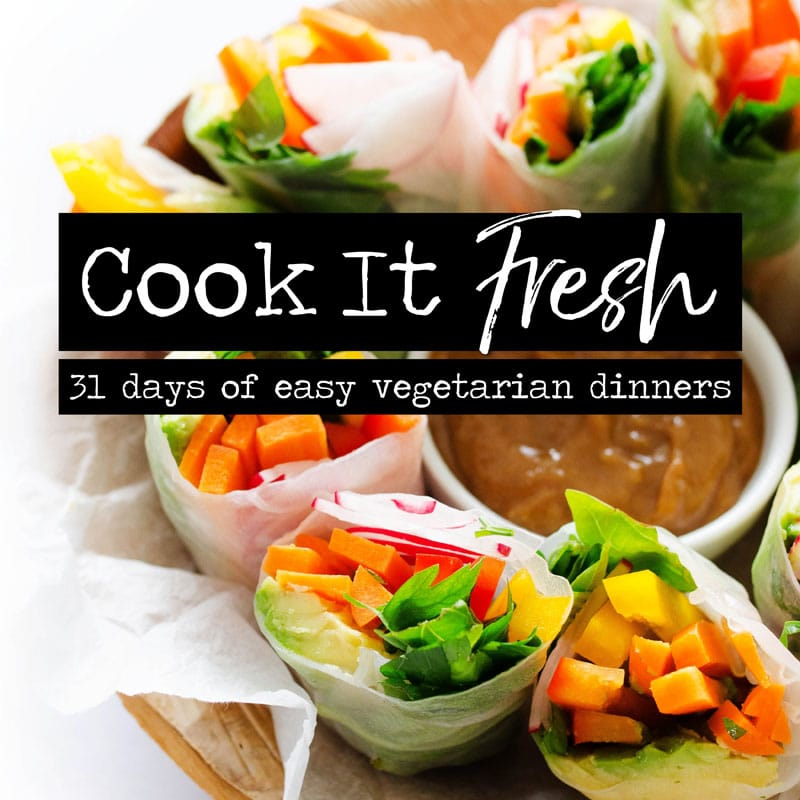 31 Days of Easy Vegetarian Recipes