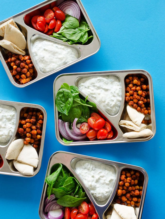 Chickpea Gyro Lunch Meal Prep