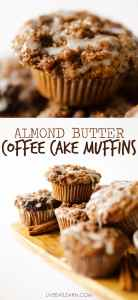 The holidays just got healthier! These Coffee Cake Muffins are made moist with the help of almond butter and made delicious by the addition of coffee.